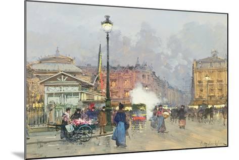 Place De L'Opera, Paris-Eugene Galien-Laloue-Mounted Giclee Print