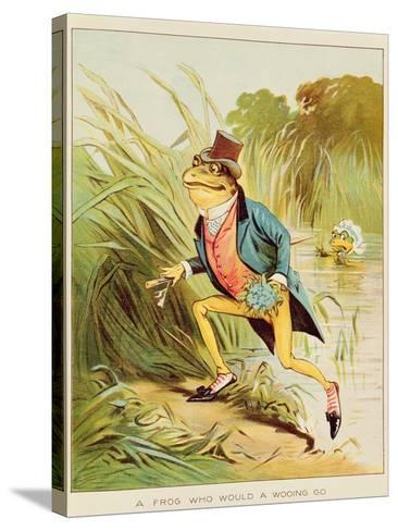 Illustration from 'A Frog He Would A-Wooing Go'-Randolph Caldecott-Stretched Canvas Print