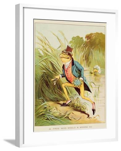 Illustration from 'A Frog He Would A-Wooing Go'-Randolph Caldecott-Framed Art Print