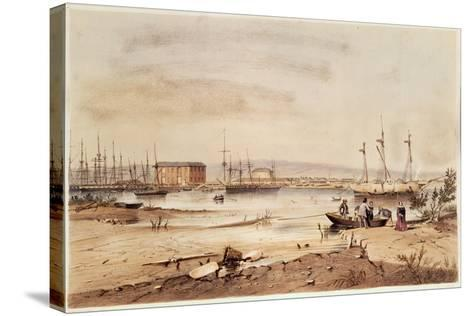 Port Adelaide, from the 'South Australia Illustrated', 1846-George French Angas-Stretched Canvas Print