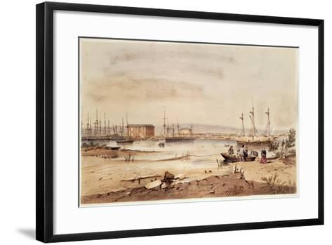 Port Adelaide, from the 'South Australia Illustrated', 1846-George French Angas-Framed Art Print