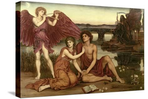 Love's Passing, 1883-84-Evelyn De Morgan-Stretched Canvas Print