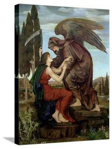 The Angel of Death, 1890-Evelyn De Morgan-Stretched Canvas Print