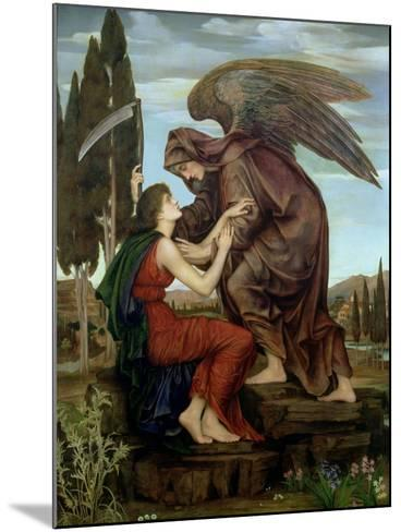 The Angel of Death, 1890-Evelyn De Morgan-Mounted Giclee Print