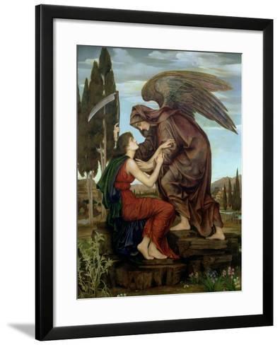 The Angel of Death, 1890-Evelyn De Morgan-Framed Art Print