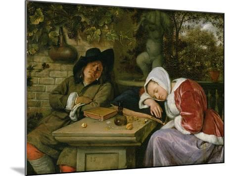 The Sleeping Couple, C.1658-60-Jan Havicksz^ Steen-Mounted Giclee Print
