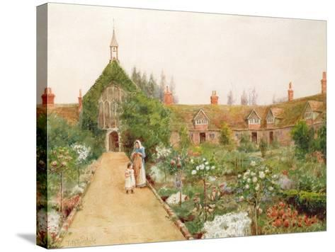 A Country Garden at Bray, Berkshire-Thomas Nicholson Tyndale-Stretched Canvas Print