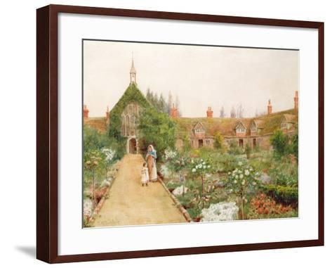 A Country Garden at Bray, Berkshire-Thomas Nicholson Tyndale-Framed Art Print