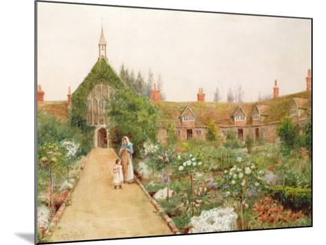 A Country Garden at Bray, Berkshire-Thomas Nicholson Tyndale-Mounted Giclee Print