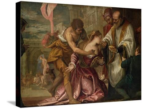 The Martyrdom and Last Communion of St. Lucy-Paolo Veronese-Stretched Canvas Print