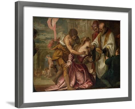 The Martyrdom and Last Communion of St. Lucy-Paolo Veronese-Framed Art Print