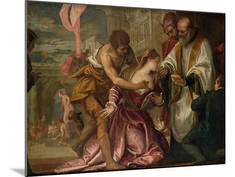 The Martyrdom and Last Communion of St. Lucy-Paolo Veronese-Mounted Giclee Print