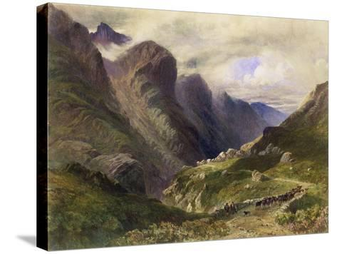 The Pass of Glencoe, 1852-William Bennett-Stretched Canvas Print