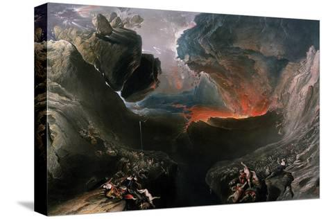 The Great Day of His Wrath, Engraved by Charles Mottram (1807-76), Published by Thomas Mclean,…-John Martin-Stretched Canvas Print