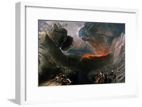 The Great Day of His Wrath, Engraved by Charles Mottram (1807-76), Published by Thomas Mclean,…-John Martin-Framed Art Print