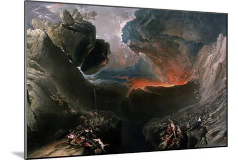 The Great Day of His Wrath, Engraved by Charles Mottram (1807-76), Published by Thomas Mclean,…-John Martin-Mounted Giclee Print