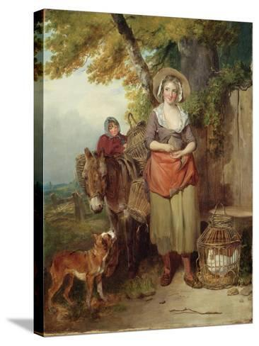 The Return from Market, 1786-Francis Wheatley-Stretched Canvas Print
