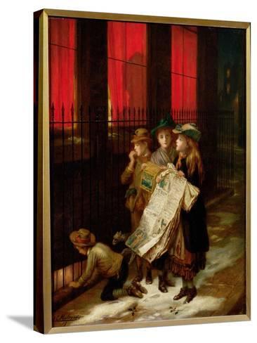 Carol Singers, 1889-Augustus Edward Mulready-Stretched Canvas Print