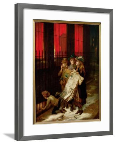 Carol Singers, 1889-Augustus Edward Mulready-Framed Art Print