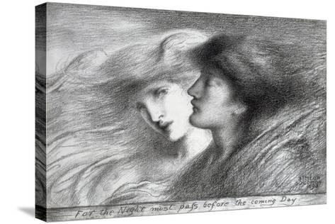 'For the Night Must Pass before the Coming Day', 1893-Simeon Solomon-Stretched Canvas Print