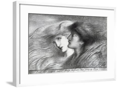 'For the Night Must Pass before the Coming Day', 1893-Simeon Solomon-Framed Art Print
