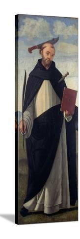 Saint Peter Martyr-Vittore Carpaccio-Stretched Canvas Print