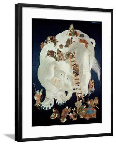 Chinese Washing a White Elephant, Gift Cover, 1800-50--Framed Art Print