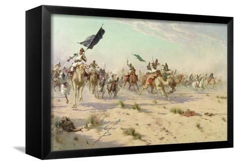 The Flight of the Khalifa after His Defeat at the Battle of Omdurman, 2nd September 1898, 1899-Robert George Talbot Kelly-Framed Canvas Print