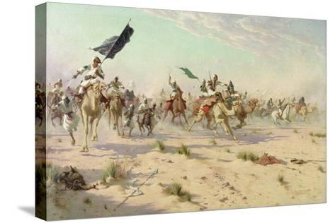 The Flight of the Khalifa after His Defeat at the Battle of Omdurman, 2nd September 1898, 1899-Robert George Talbot Kelly-Stretched Canvas Print