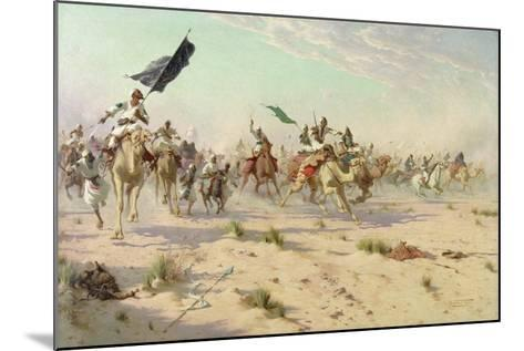 The Flight of the Khalifa after His Defeat at the Battle of Omdurman, 2nd September 1898, 1899-Robert George Talbot Kelly-Mounted Giclee Print