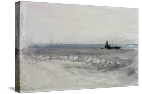 Grey Sea, Boat Running Ashore, C.1840-J^ M^ W^ Turner-Stretched Canvas Print