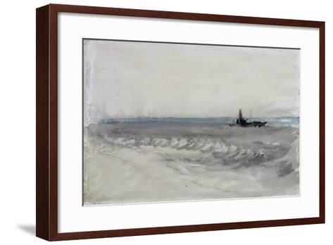 Grey Sea, Boat Running Ashore, C.1840-J^ M^ W^ Turner-Framed Art Print