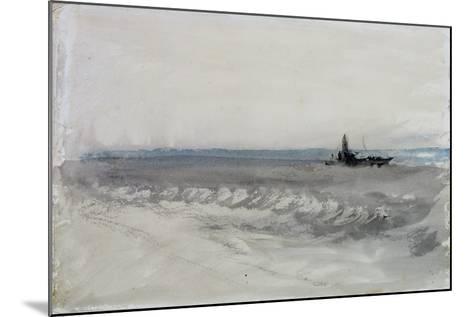 Grey Sea, Boat Running Ashore, C.1840-J^ M^ W^ Turner-Mounted Giclee Print