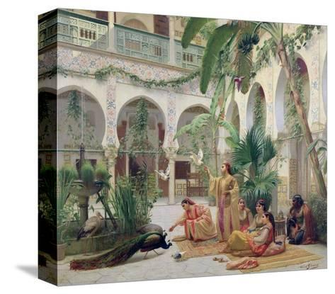 The Court of the Harem-Albert Girard-Stretched Canvas Print