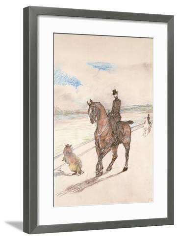 The Amazon, C.1899-Henri de Toulouse-Lautrec-Framed Art Print