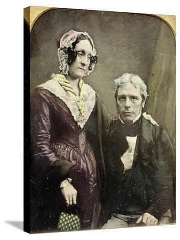 Michael and Sarah Faraday, 1840s-50s--Stretched Canvas Print