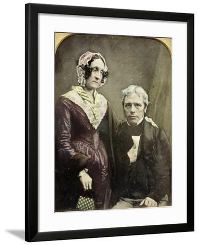 Michael and Sarah Faraday, 1840s-50s--Framed Art Print