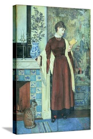 At Home: a Portrait, 1872-Walter Crane-Stretched Canvas Print