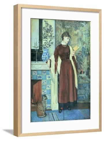 At Home: a Portrait, 1872-Walter Crane-Framed Art Print