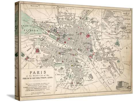 Paris at the Outbreak of the French Revolution in 1789--Stretched Canvas Print