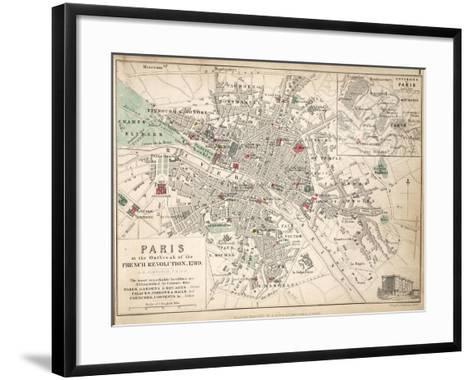 Paris at the Outbreak of the French Revolution in 1789--Framed Art Print