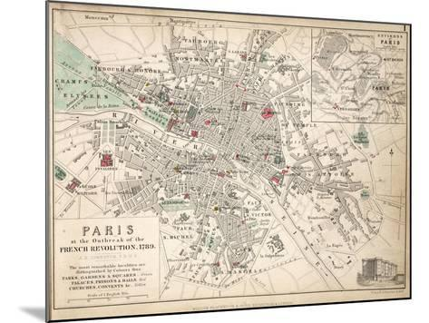 Paris at the Outbreak of the French Revolution in 1789--Mounted Giclee Print