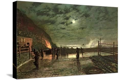 In Peril (The Harbour Flare) 1879-John Atkinson Grimshaw-Stretched Canvas Print