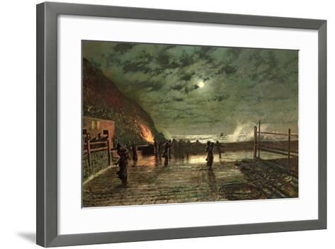 In Peril (The Harbour Flare) 1879-John Atkinson Grimshaw-Framed Art Print
