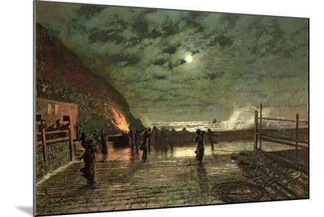 In Peril (The Harbour Flare) 1879-John Atkinson Grimshaw-Mounted Giclee Print