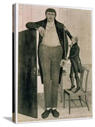 Mr O'Brien, the Irish Giant, the Tallest Man in the known World Being Near Nine Feet High, 1803-John Kay-Stretched Canvas Print