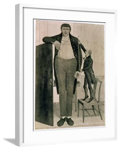 Mr O'Brien, the Irish Giant, the Tallest Man in the known World Being Near Nine Feet High, 1803-John Kay-Framed Art Print