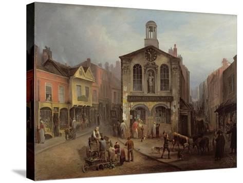 The Old Moot Hall, Leeds, C.1825-Joseph Rhodes-Stretched Canvas Print