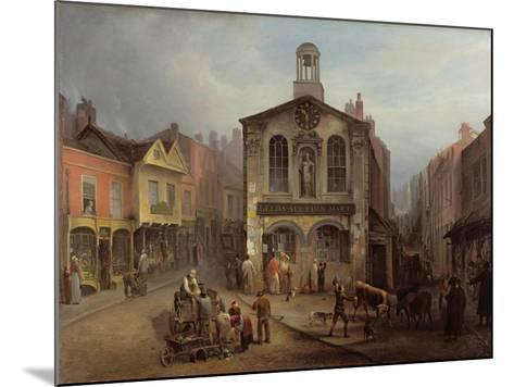 The Old Moot Hall, Leeds, C.1825-Joseph Rhodes-Mounted Giclee Print