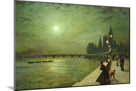 Reflections on the Thames, Westminster, 1880-John Atkinson Grimshaw-Mounted Giclee Print